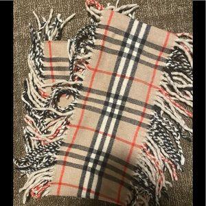 Nova Check Burberry Fringe vintage scarf